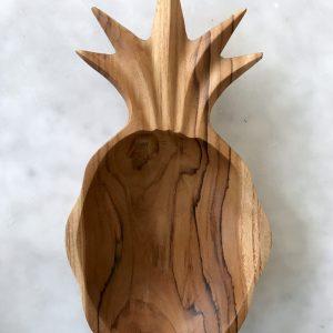 Houten ananas bakje