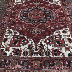 Groot vintage vloerkleed Perzisch Rood