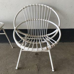 Vintage rotan stoel en tafel van Rohé Noordwolde