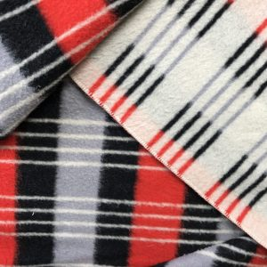 Vintage wollen deken rood zwart wit