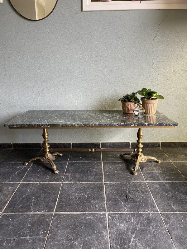 groene marmeren salontafel