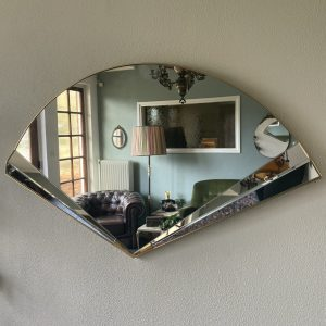 Vintage waaier spiegel Hollywood Regency