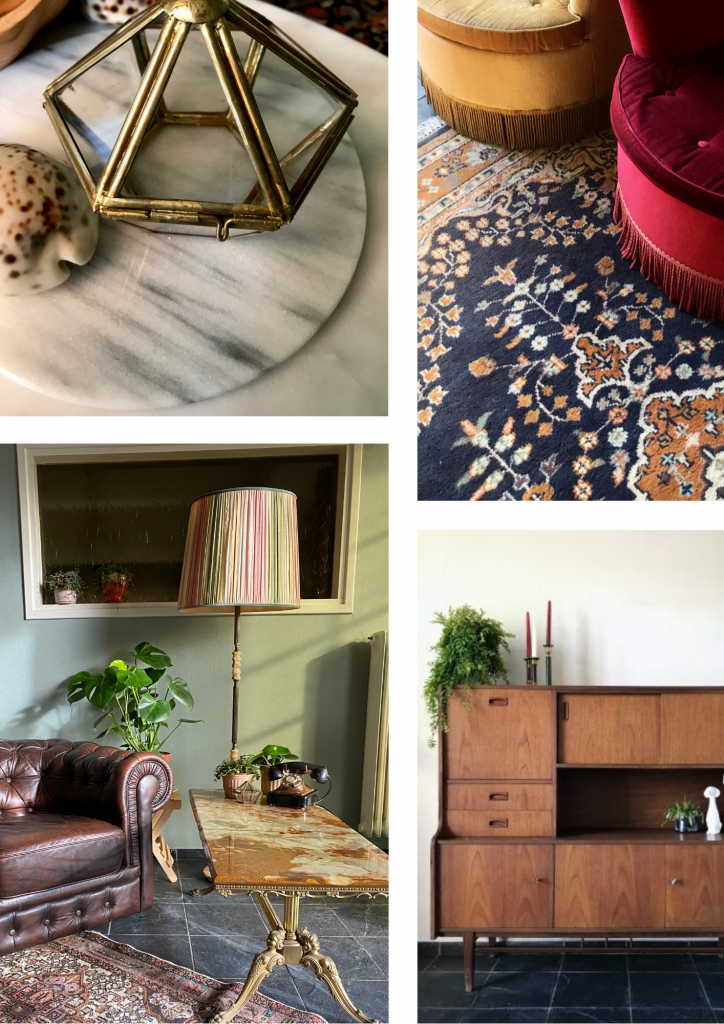Collage vintage meubilair