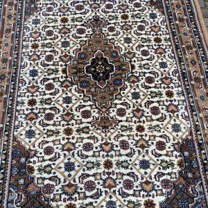 Perzisch Vloerkleed met oranje/bruine rand