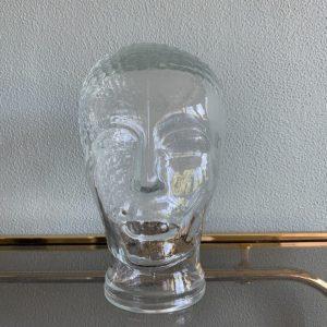 Vintage glazen hoofd