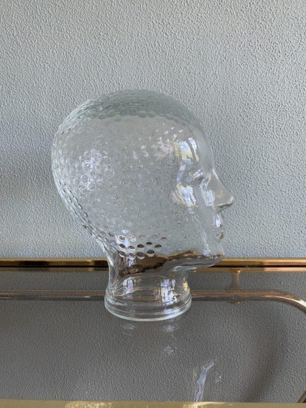 glazen hoofd display