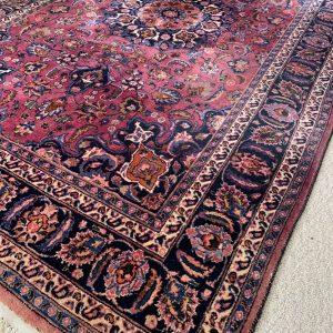 Groot paars/ rood Perzisch vloerkleed