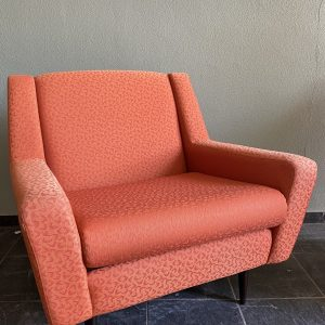 Set vintage oranje fauteuils