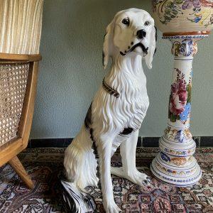 Beeld hond/setter 67cm hoog