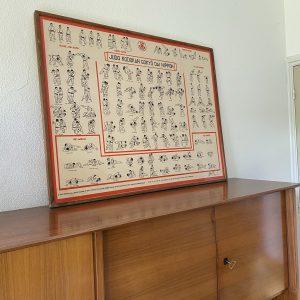 Wandplaat Judo worpen