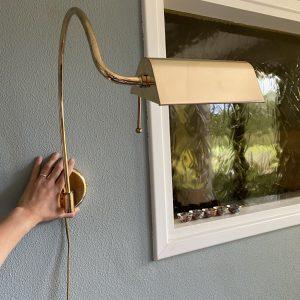 Messing wandlamp verstelbaar