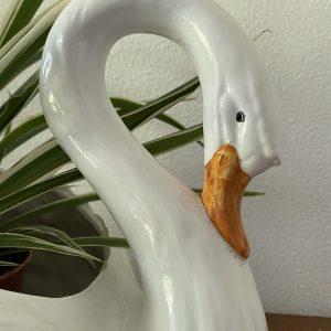 Bloempot / vaas in de vorm van zwaan 35x22cm