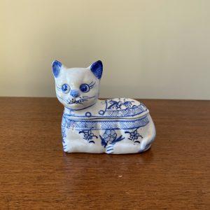 Keramieken kat (juwelen) doosje