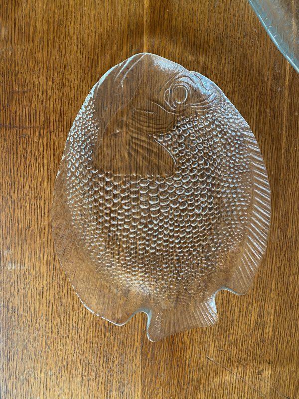vintage vis schaal serveerschaal bord glas arcoroc