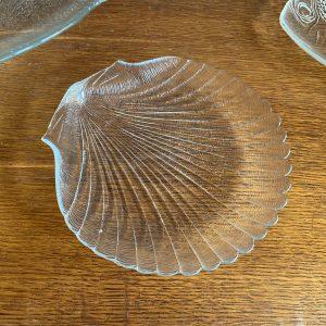 Vintage schaal in vorm van schelp 20x20cm
