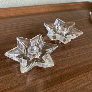 Kaarshouder van glas stervorming