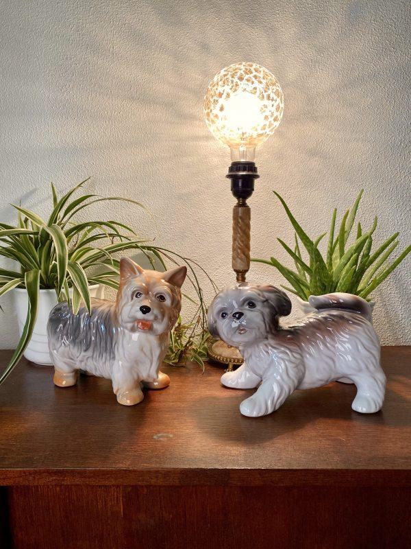 keramiek hond hondje Yorkshire terriër vintage italy handgeschilderd