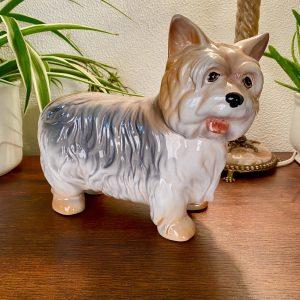 Keramiek hond Yorkshire terriër (18cm hoog)
