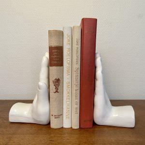Vintage boekensteun set handen keramiek
