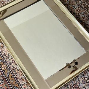 Spiegel messing met rookglas 56x76cm – Hollywood Regengcy