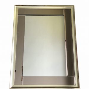 Spiegel messing met rookglas 56x76cm – Hollywood Regengcy