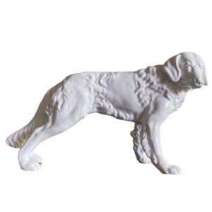 Witte keramiek hond (lengte 50cm)