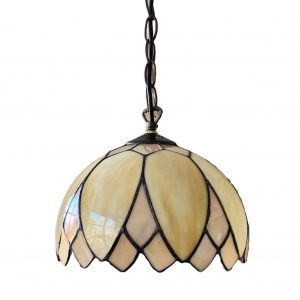 Hanglamp glas in lood Tiffany stijl 25cm