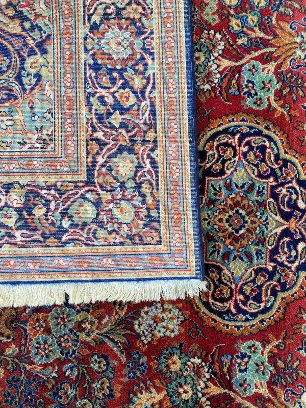 vintage tapijt vloerkleed louis de poorteren oranje rood blauw zwart