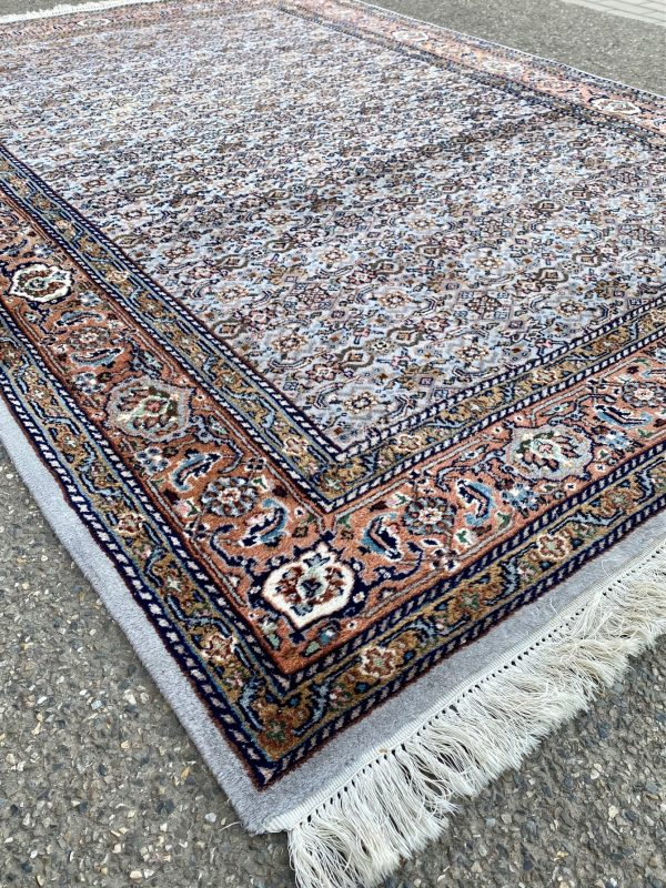 perzisch kleed vloerkleed tapijt grijs oranje roze Herati pers