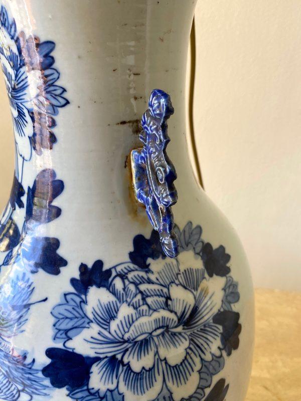 celadon vase antique blauw white chinse antiek vaas lamp porselein feniks fenix