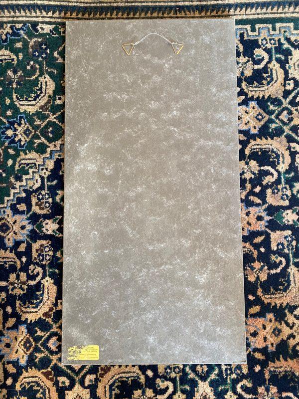 chinees borduurwerk zijde lijst ontspiegeld glas
