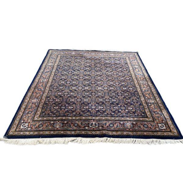 Herati perzisch kleed vloerkleed tapijt pers marineblauw oranje roze limburg vintage