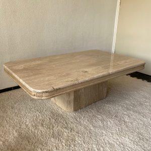 Natuurstenen salontafel travertin 130x80x45cm