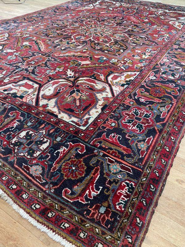 Heriz tapijt vloerkleed perzisch rood kwaliteit prachtig 1970 antiek vintage limburg 340x220cm