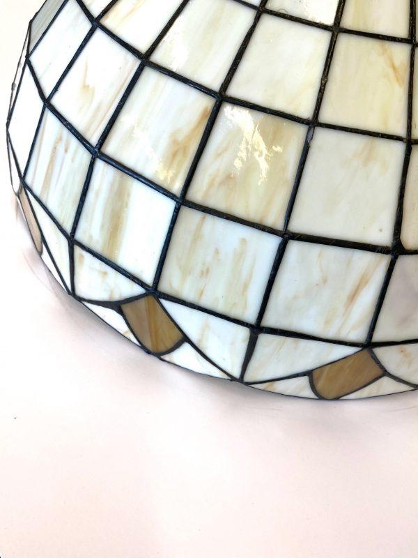 Hanglamp glas in loos wit oranje steinhauer