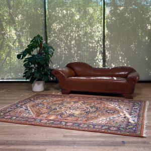 Hangeknoopt Perzisch kleed Heriz Oranje 173x240cm