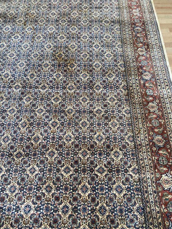 Herati perzisch kleed vloerkleed tapijt pers crème creme beige oranje roze limburg vintage