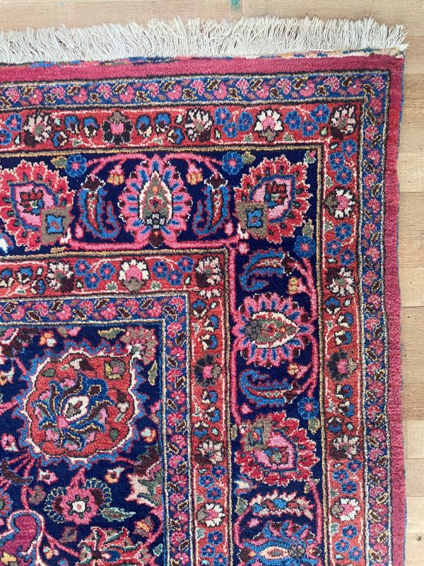 Mashad perzisch tapijt roze paars magenta kleed vloerkleed pers limburg vintage