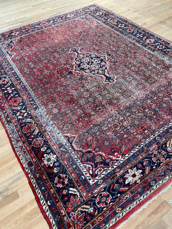 perzisch tapijt roze paars magenta kleed vloerkleed pers limburg vintage groot 3x3,5m