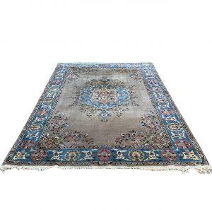 Handgeknoopt Perzisch kleed beige & blauw210x308cm