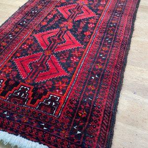Handgeknoopt Afghaans vloerkleed 55x105cm