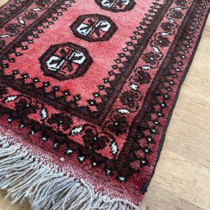 Handgeknoopt Afghaans Pusthi vloerkleed 55x72cm