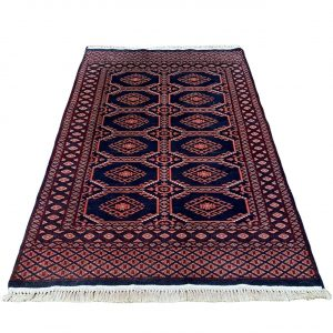 Handgeknoopt Perzisch vloerkleed zwart 95x150cm